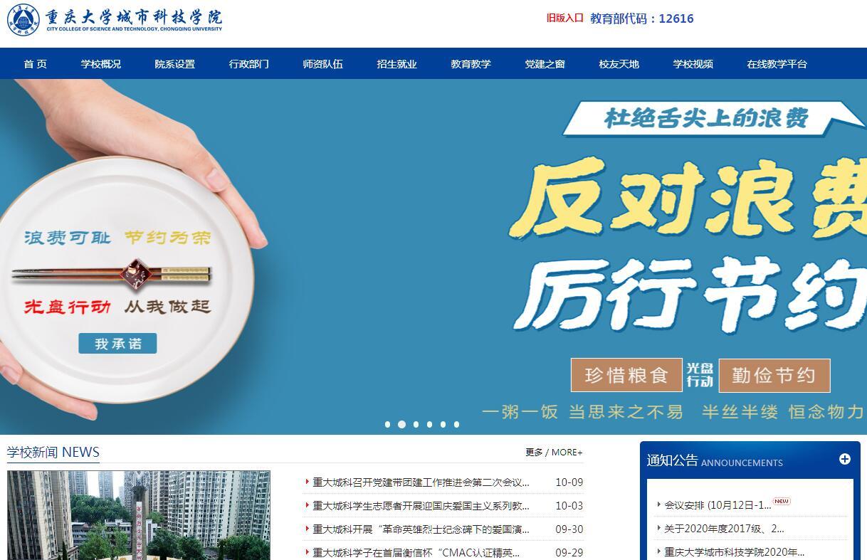 重慶大學城市科技學院